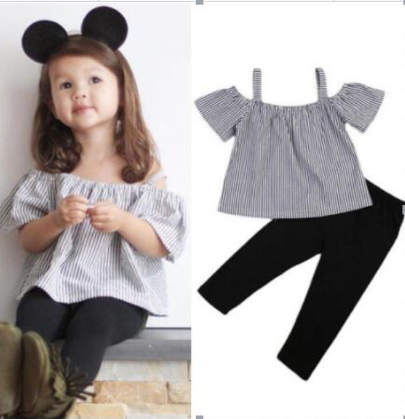 girls boutique outfits summer clothes christmas outfit 2019 thanksgiving girl striped fashion pullover baby clothing