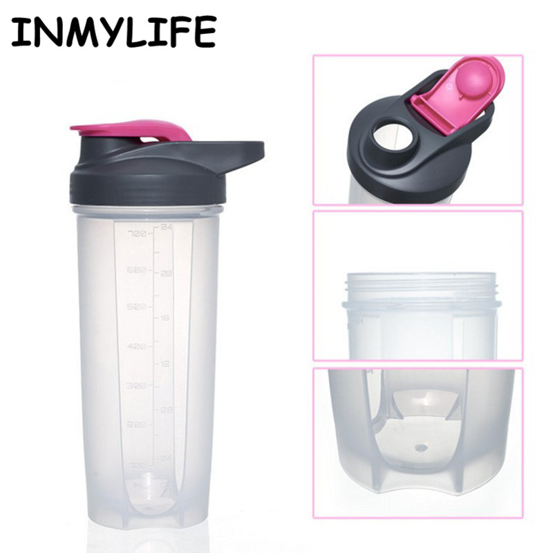 Multifunction Protein Shaker Blender Mixer Bottle Sports Fitness Gym Shaker Bottle INMYLIFE Fitness Mixer Whey Milk Shaker
