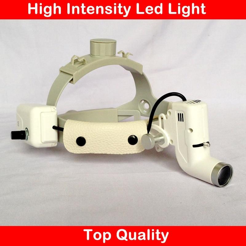 Medisinsk forstørrelseslampe LED-lampehodebånd justerbar størrelse høy intensitet lysstyrke ENT dentalprodukt kirurgisk loupe-lyskaster