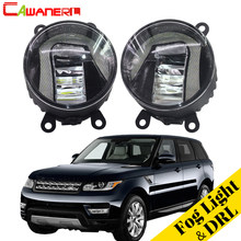 Cawanerl For Land Rover Range Rover Sport LS Closed Off-Road Vehicle 2006-2013 Car LED Fog Light DRL Daytime Running Lamp 1 Pair(China)