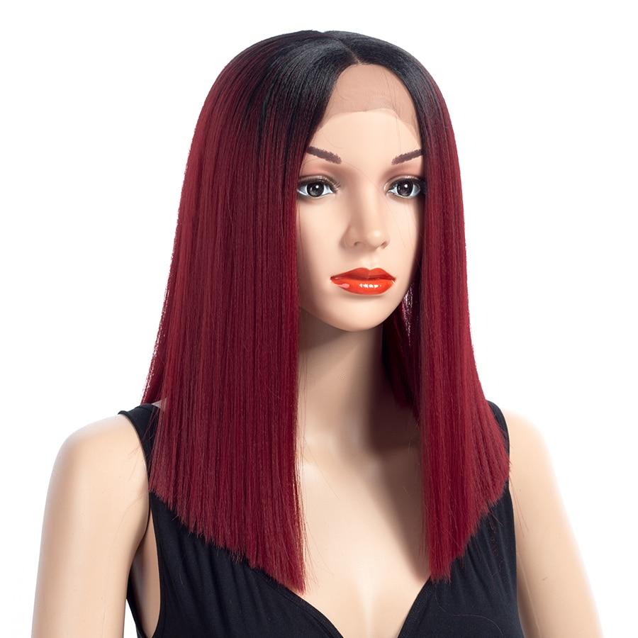 Aigemei Fiber Glueless Long Straight Ombre Colors - Синтетические волосы - Фотография 2
