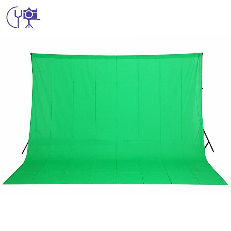 CY 3 m X 6 m/9.8ftX19.6ft 100% toile de fond en mousseline Chromakey de coton pour studio d'éclairage Photo fond d'écran couleur verte