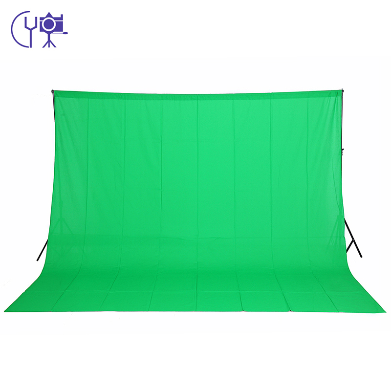 CY 3m X 6m /9.8ftX19.6ft 100% Cotton Chromakey Muslin background backdrop For Photo lighting studio Green color Screen backdrops supon 6 color options screen chroma key 3 x 5m background backdrop cloth for studio photo lighting non woven fabrics backdrop