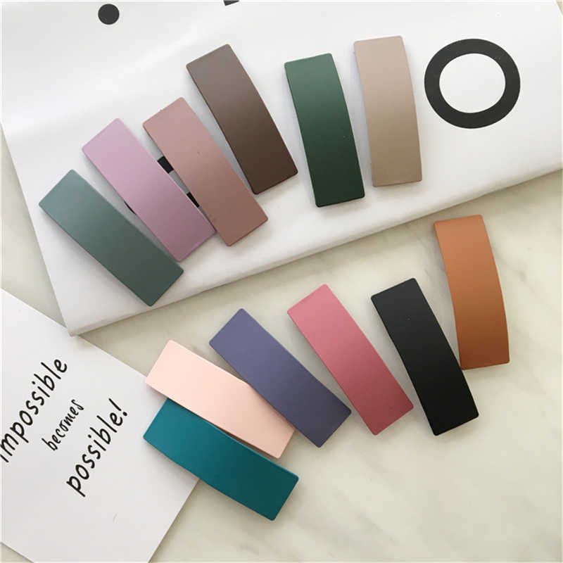 WPCZQVZA классические разноцветные конфеты кавай квадратные заколки для волос женские элегантные горячие продажи заколки для волос простые изысканные аксессуары для волос