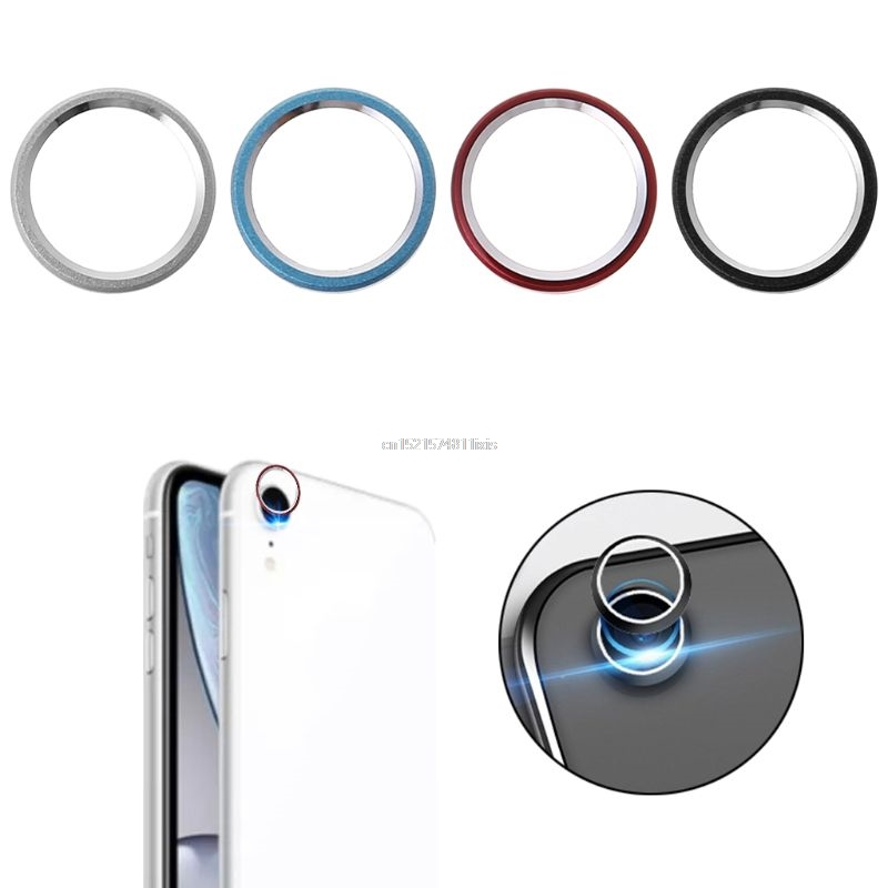 Rear Lens Protective Ring Bumper Cover Camera Len Screen Protector Case Metal for Apple iPhone XRRear Lens Protective Ring Bumper Cover Camera Len Screen Protector Case Metal for Apple iPhone XR