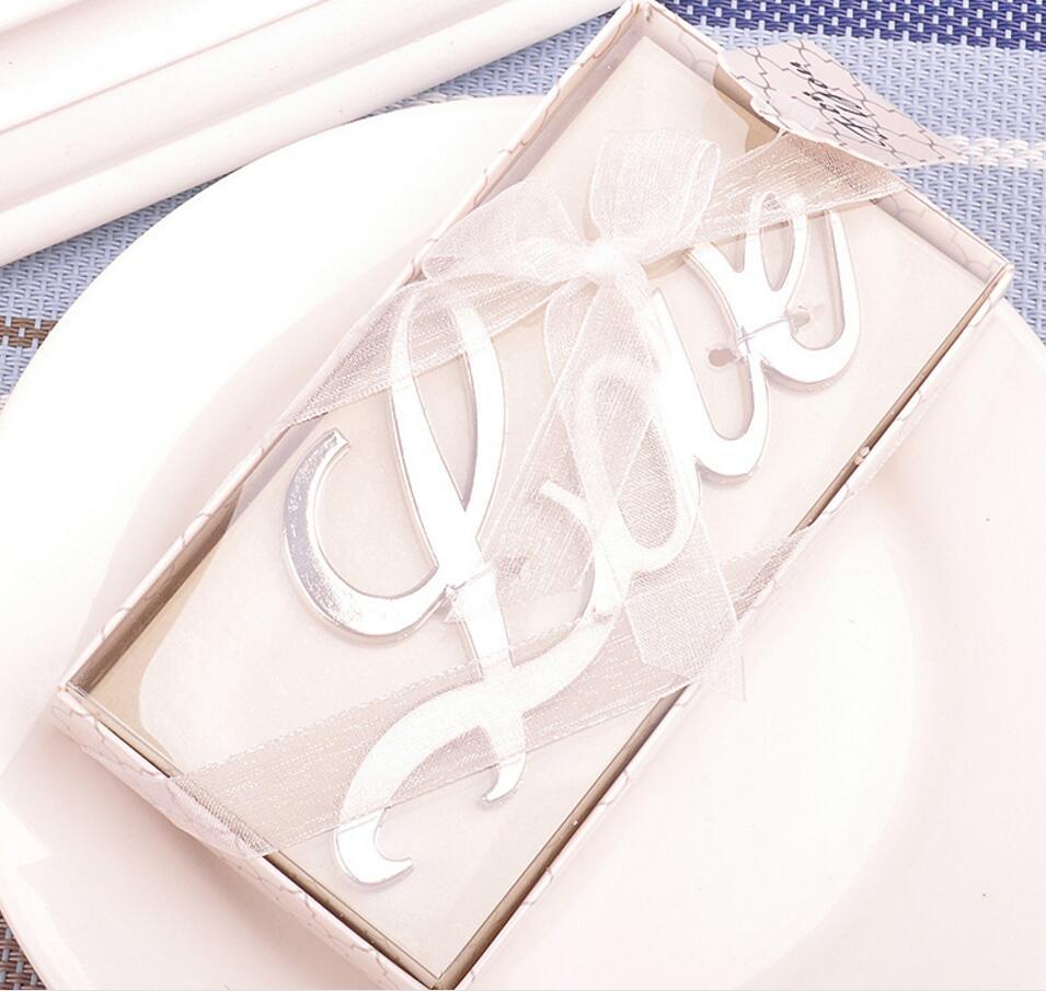 20pcs Silver color Love themed beer bottle opener Bridal Shower ...