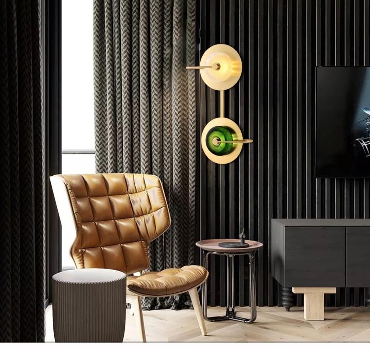 estar designer criativo simples quarto corredor da escada lâmpada parede