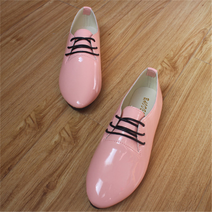 New Style Fashion Trend Women Casual Wear Flats Lace-up Multiple Colors Solid Female Shoes Lareg Size Spring Autumn Comfortable  tept79001 trend ready letters casual style