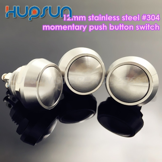 10pc high quality waterproof stainless steel 12mm non locking reset pushbutton switch mini momentary push button switch small