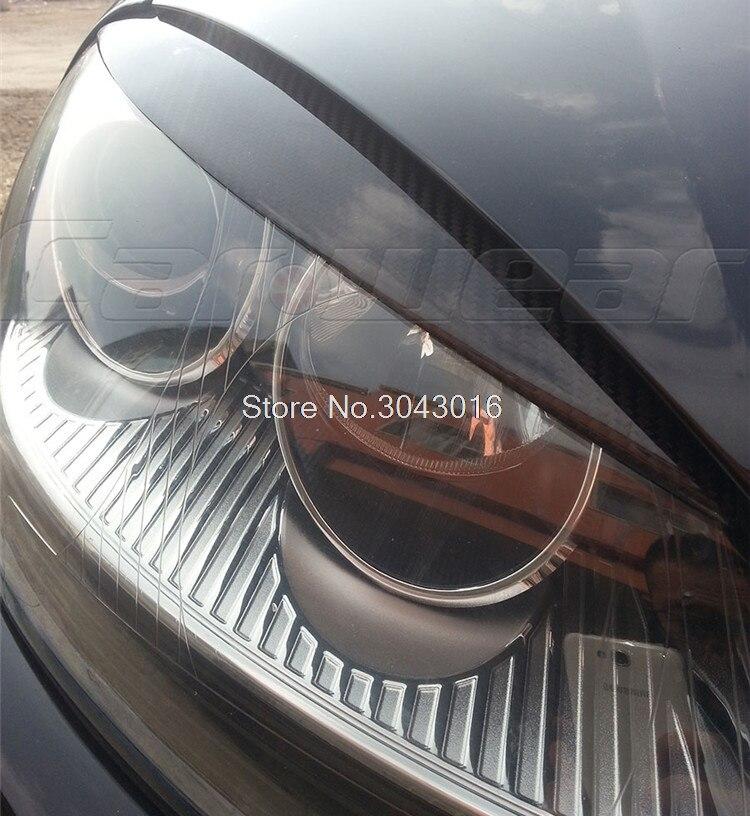 Haute Qualité En Fiber De Carbone Véritable décoration Phares Sourcils Paupières couverture pour Volkswagen VW golf 5 MK5 2005 2006 2007 - 5