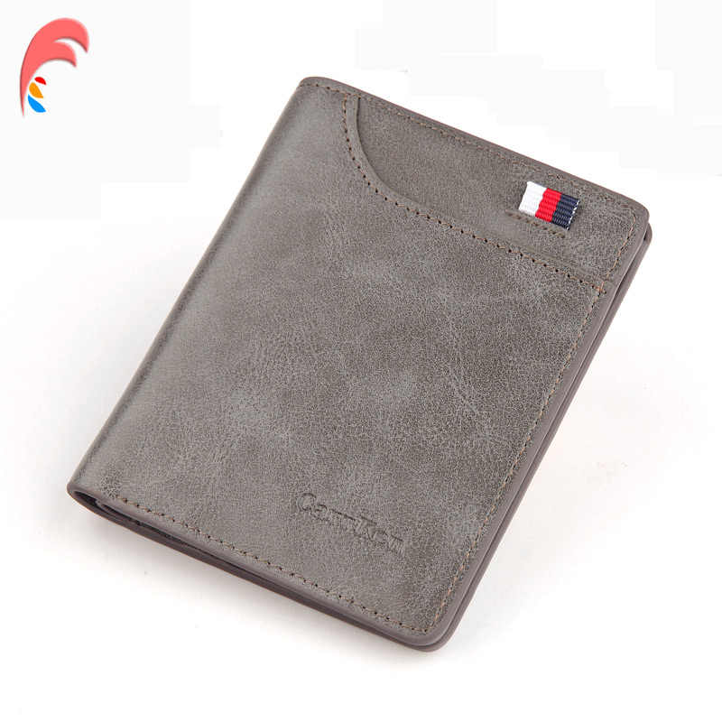 Carrken Men Wallet Purse Money Bag Fashion PU Soft Leather Male Mini Wallet Card Holder Hasp Coin Pocket Slim Purse Wallet Men