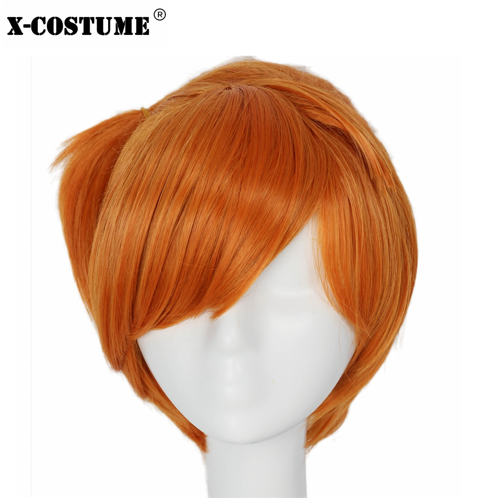 Pokemon Anime Misty Cosplay Wig Women Fashion Short Orange Hair Wigs Headwear Cosplay Costume Accessories For Festival Party