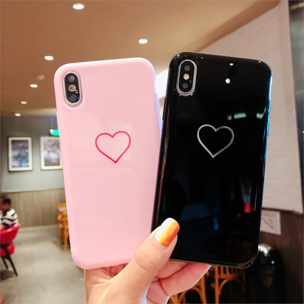Glossy Crown Phone Case For iphone X Case For iphone 7 Plus 6 6S 8 Plus Cute Letter KING QUEEN Soft TPU Couples Back Cover in Fitted Cases from Cellphones Telecommunications