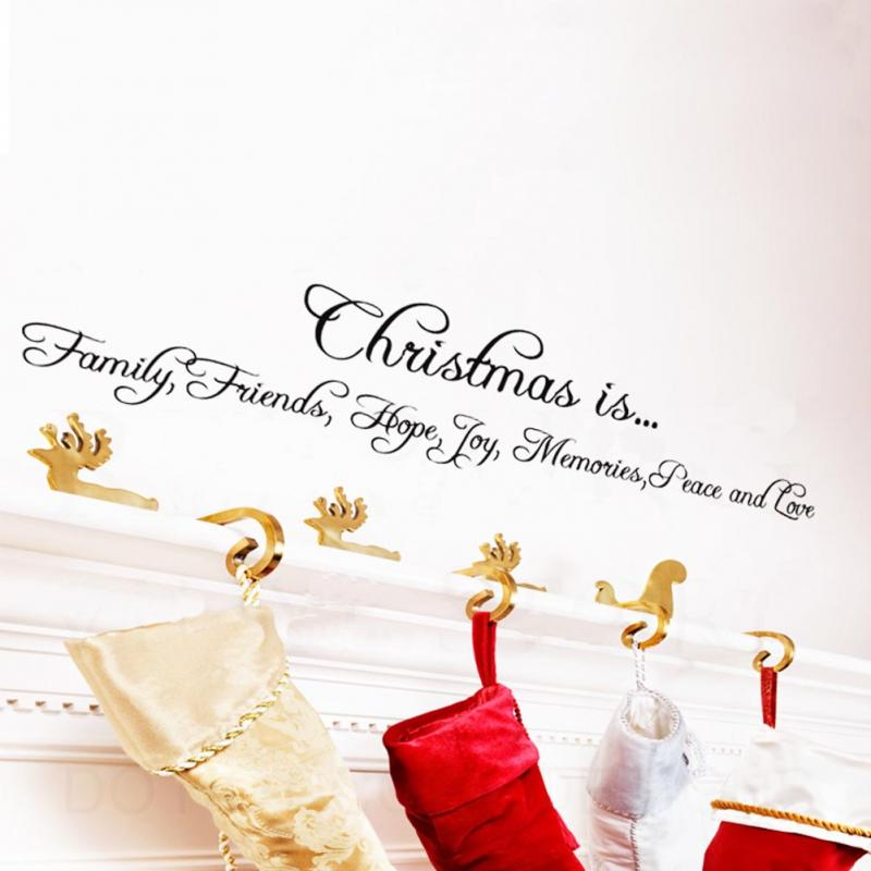 Abnehmbare Weihnachten Ist Liebe Englisch Poesie Fenster Vinyl