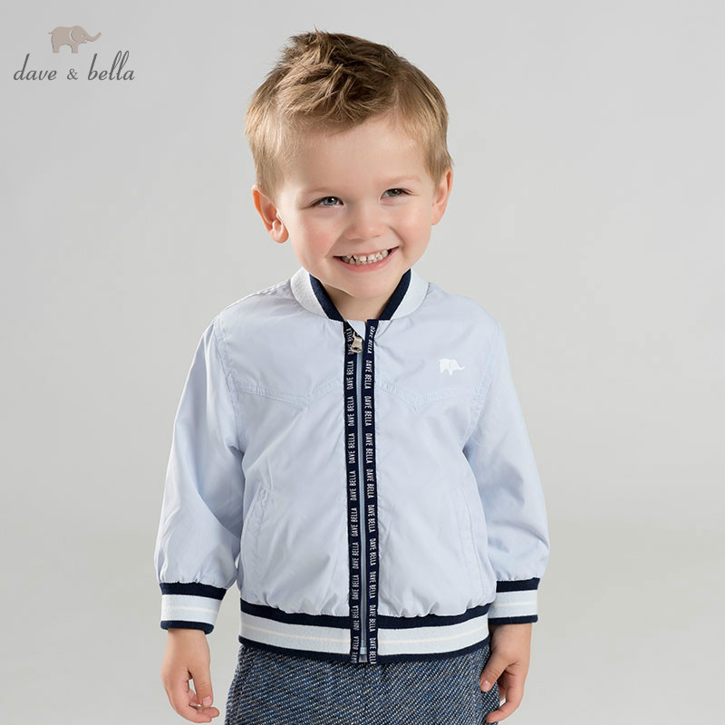 DB10177 dave bella spring baby boys fashion coat children tops infant toddler coat