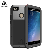 Love Mei For Xiaomi Mi Max 2 Metal Armor Shockproof Case For Xiaomi Mi Max 2