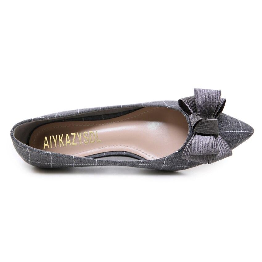Zapatos Aiykazysdl Nudo Pajarita Tacón Mariposa Profundos black Clásico Bajo Bombas De Tacones Arco Gray Vintage Poco Mujer Casuales 1qqrEw