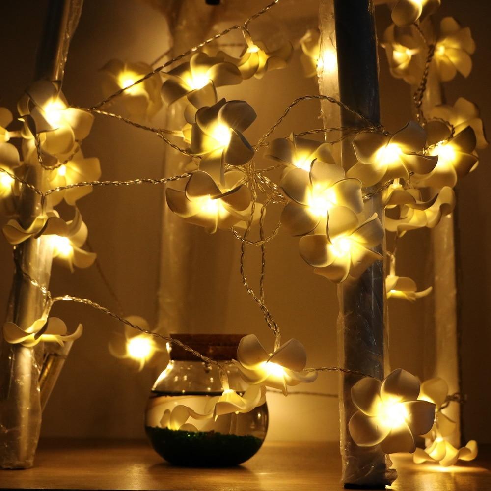 ITimo Flower Light String LED Atmosphere Lamp Night Light Novelty Plumeria Light Home Garden Decoration Holiday Party Lighting