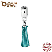 Regalo 925 de Plata de ley Elsa Vestido de Azul Pulseras y Collar de Accesorios de Joyería de Plata Encantos ajuste original PAS217