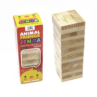 16CM Wooden Tower Wood Toy Domino Stacker Extract Figure Blocks Jenga Game Healthy Funny Children S