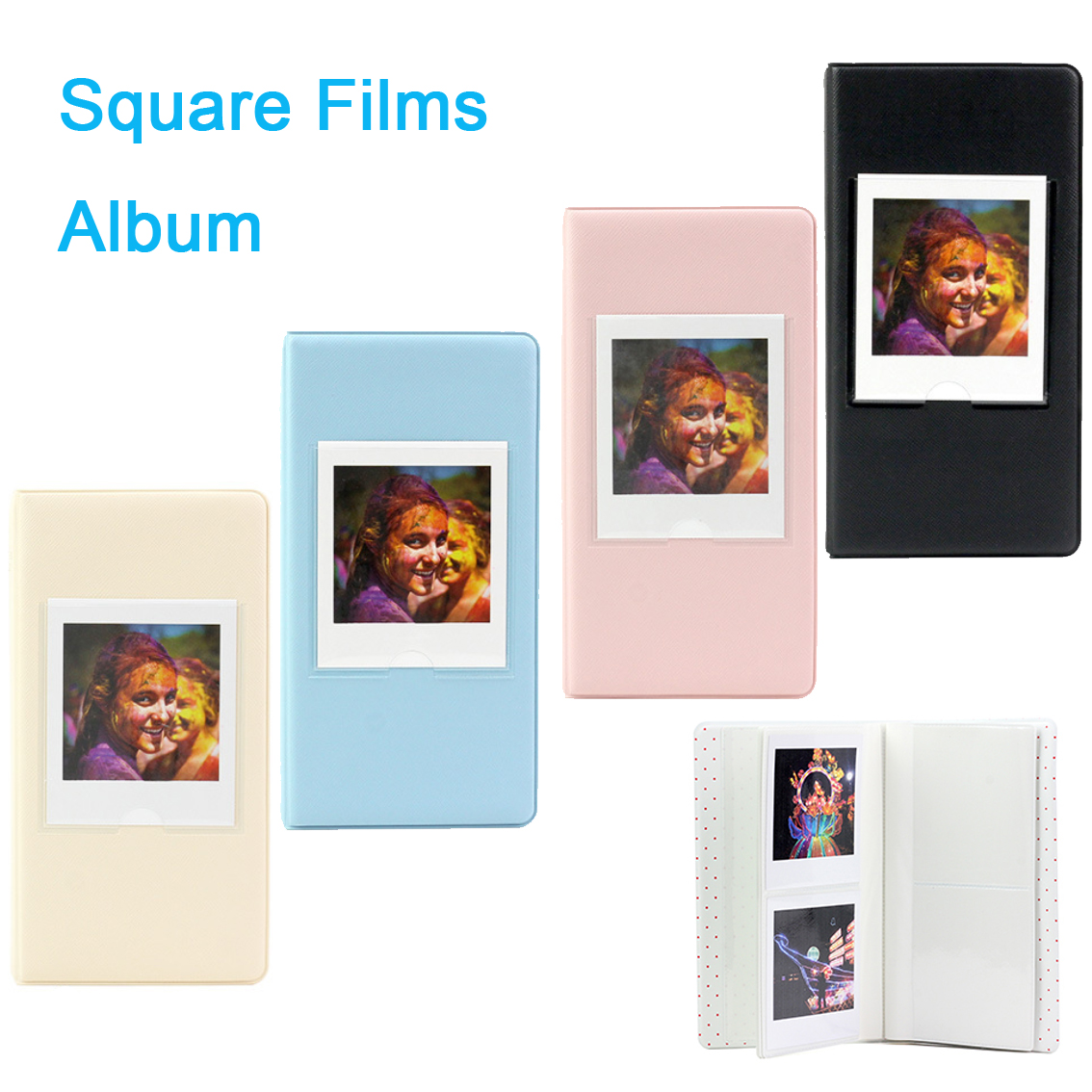 64 Pockets Fuji Fujifilm Instax Square Films Album SQ 10 6 Instant Camera SP-3 Printer Photo Paper Book Album