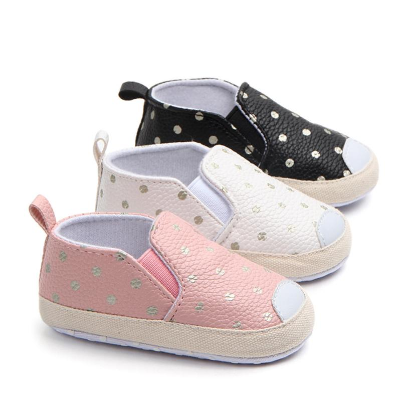 TELOTUNY 2018 baby shoes Crib Shoes Baby Girls Boys Dot Skate First Walkers Newborn Soft Soled Anti-Slip SLIP-ON Shoes UK A6