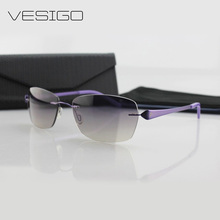 New Fashion Rimless Sunglasses Women Ultra-Light Titanium SunGlasses with nylon lens Brand Designer UV400 B110