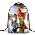 2016 nueva llegada Zootopia unisex mochilas escolares para niños niñas niños mochila bolsa de primaria mochila infantil 1-5 alta calidad