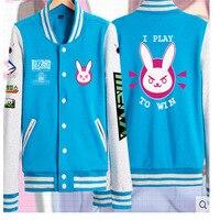 Cosplay Costume D Va Sweatshirt Hoodie Woman Jackets Baseball Coats Cotton Sweatshirts For Women Coat Genji