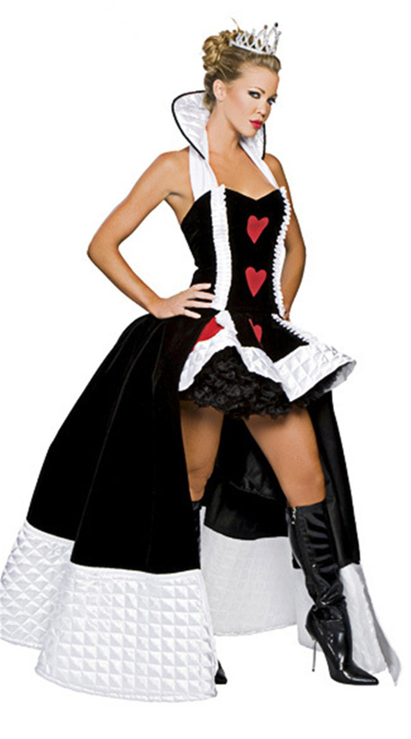 Woman Queen Of Heart Cosplay Costume Alice in Wonderland Queen Fancy Dress-in Movie & TV costumes from Novelty & Special Use    1