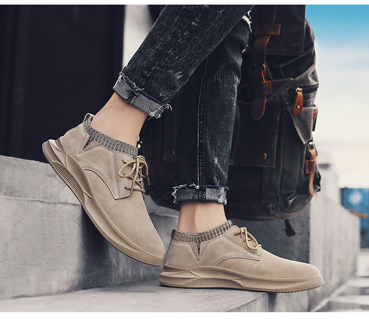 Casual Genuine Leather Suede Sneakers Unisex 6