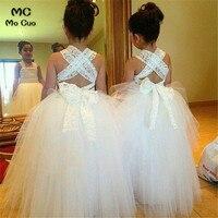 kids prom dresses Lace Ball Baby dresses for girls first communion dresses for girls White flower girl dresses for weddings