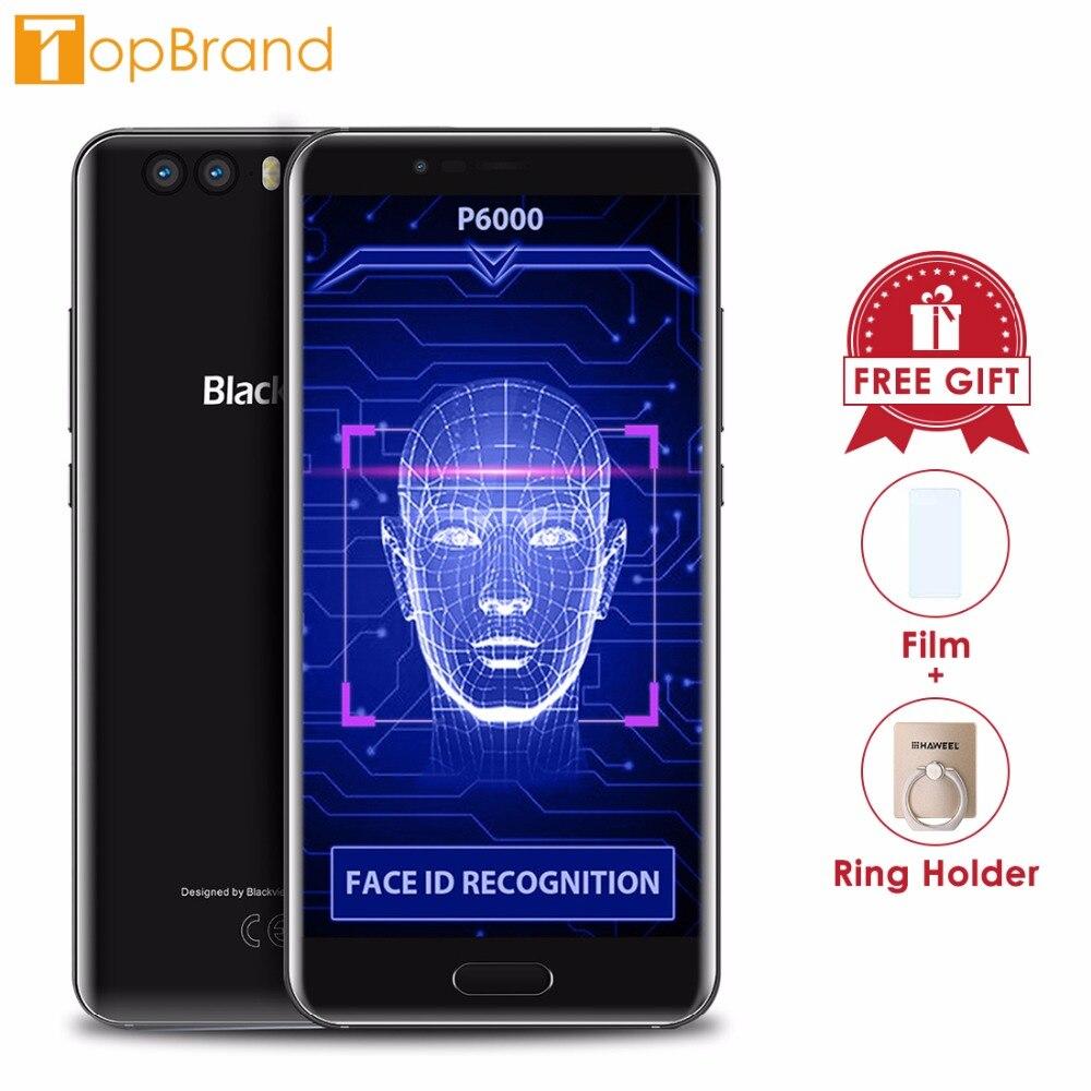 Blackview P6000 Smartphone 5.5 16:9 FHD Visage ID Helio P25 Octe base 6180 mah 6 gb 64 gb 21MP double Arbre à Cames Android 7.1 4g Mobile téléphone