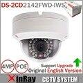 Оригинал Обновляемых HIK 4MP Камеры ВИДЕОНАБЛЮДЕНИЯ DS-2CD2142FWD-IWS МИНИ Купольная Камера WI-FI Поддержка Аудио и Сигнализации I/O PoE IP камера
