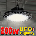 200 W alta Bahía OVNI lámpara para máquina de trabajo luz garaje luz lámparas de taller industrial de iluminación led en garaje CE poderoso luces