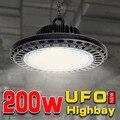 200 w UFO hohe bucht lampe für arbeit maschine licht garage licht lampen industrie werkstatt led garage beleuchtung CE leistungsstarke lichter