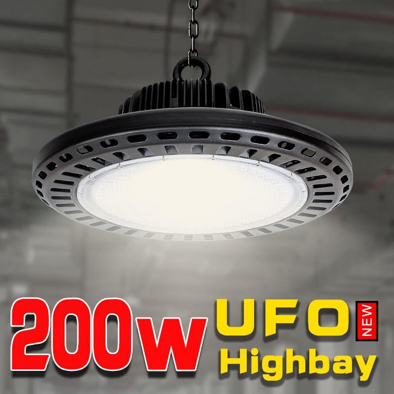 200 w UFO lampada ad alta baia per il lavoro della macchina garage luce lampade a luce industriale officina led garage illuminazione CE potente luci