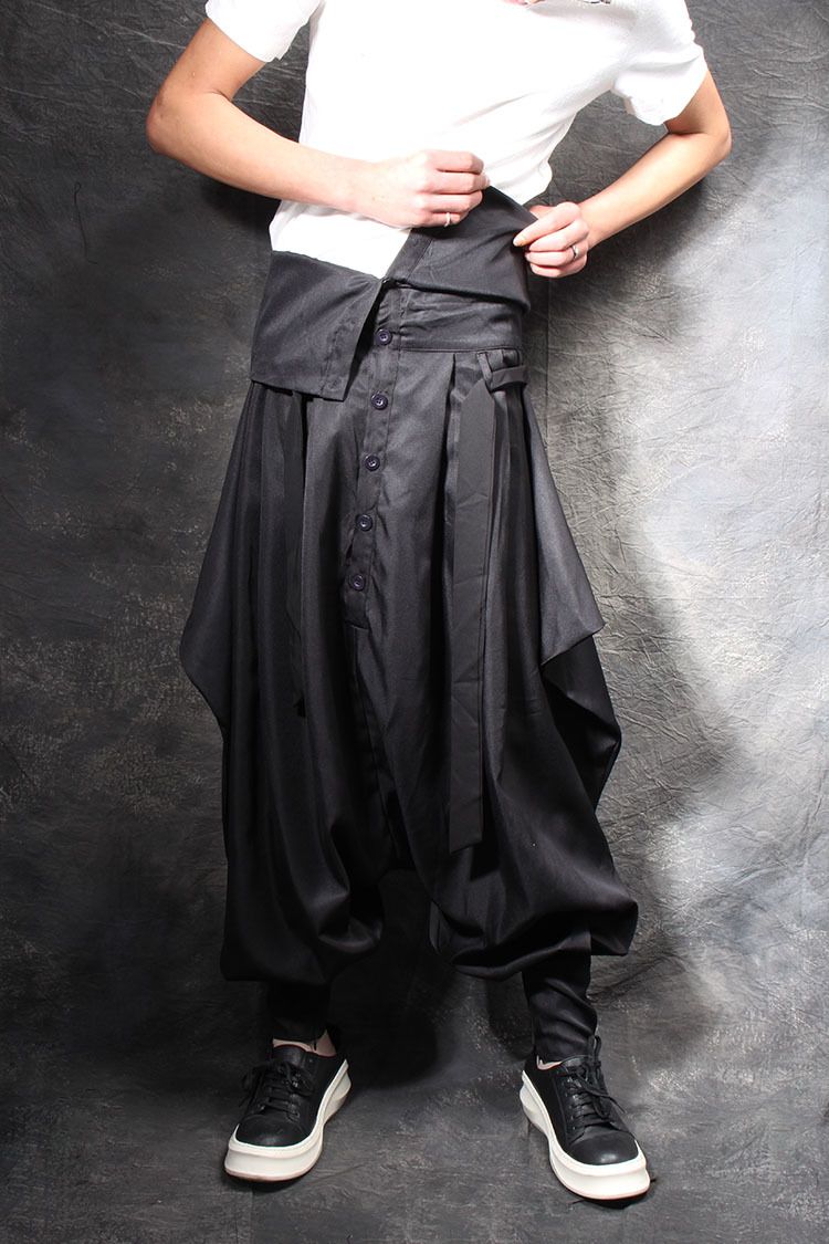 2019 Black Entrepierna Grande Trajes Ropa Culottes Hombre Cantante La Harem De Pantalones Personalidad Nueva arqCOwa