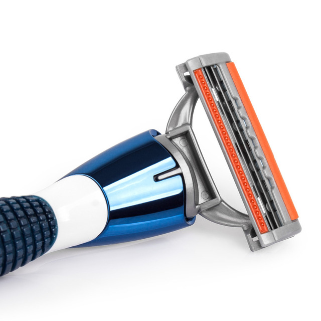 QShave Orange Series 3 Layer Razor Blade Refill Men Manual Shaving X3 Blade 4 Cartridges can choose IT 8 and 16 Cartridges 1
