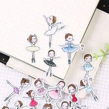 40 stücke Cartoon ballett student Papier Dicht Aufkleber Handwerk Und Scrapbooking buch Dekorative aufkleber DIY Schreibwaren