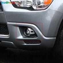 Для Mitsubishi ASX 2010 2011 2012 ABS Хромированная передняя противотуманная фара, крышка для век, отделка автозапчастей, аксессуары для литья
