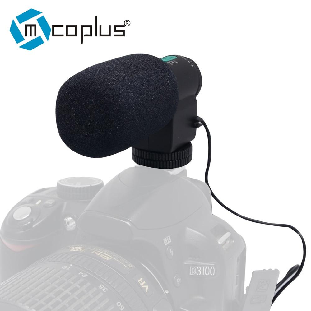 Stereo Microphone Mic 3.5mm DV For Nikon D7000 D300s D5100 D5300 D3300 D3200