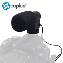 MIC-109 Directional Stereo Microphone for 3.5mm Mic Jack Canon/Nikon/Sony/Pentax DLSR Cameras & DV Camcorder