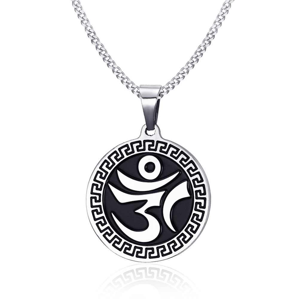 Religious symbols hinduism classic jewelry 31mm stainless steel om religious symbols hinduism classic jewelry 31mm stainless steel om mantra casting pendants mens creative jewelry in pendants from jewelry accessories on biocorpaavc