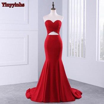 Yinyyinhs backless long prom gown 2017 mermaid vestido de festa sweetheart pleated evening prom dresses gg.jpg 350x350