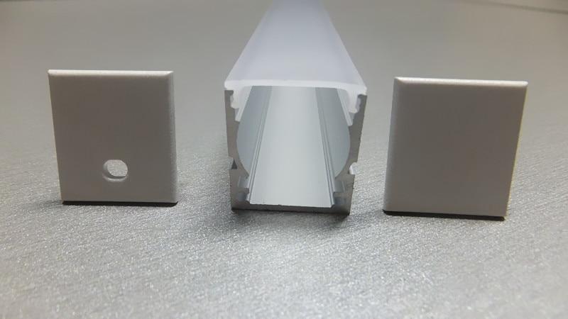 مجموعه ای از 10 مشخصات آلومینیوم DEEP-RECESS با دیفیوزر مات اپال برای برنامه های کاربردی Mount Flush Light Strip LED. 1M (3.28 فوت)