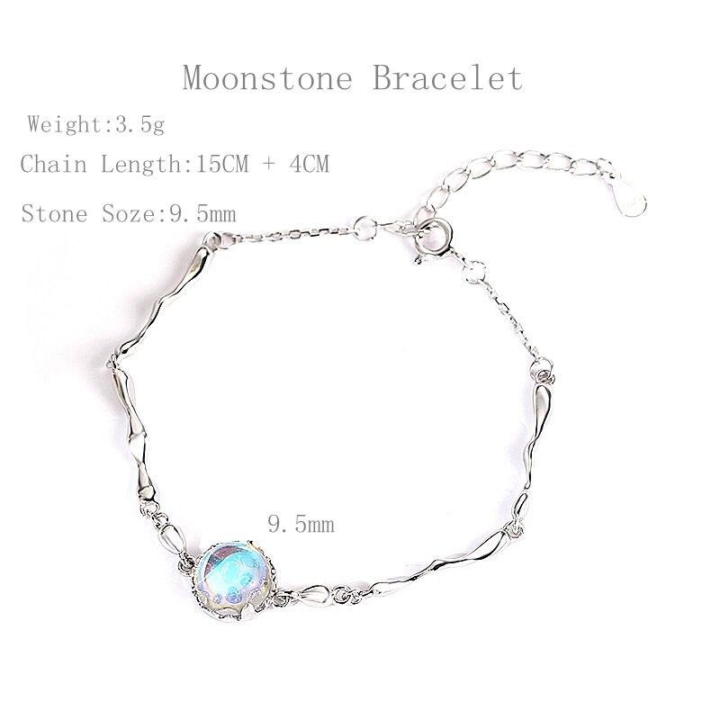 Silvology 925 Sterling Fantasy Island Aurora Gradient Crystal Female Elegant Magical Dainty Bracelet Friendship Fine Jewelry in Bracelets Bangles from Jewelry Accessories