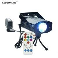 2017 Hot Sale New Multi Color LED Bulb Music Laser Stage Lights Lighting Support IR Remote