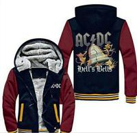 New Style AC DC Bell Skull Men Hoodies Gonna Take Hell Thicken Zipper Hoodies Brand Sweatshirt