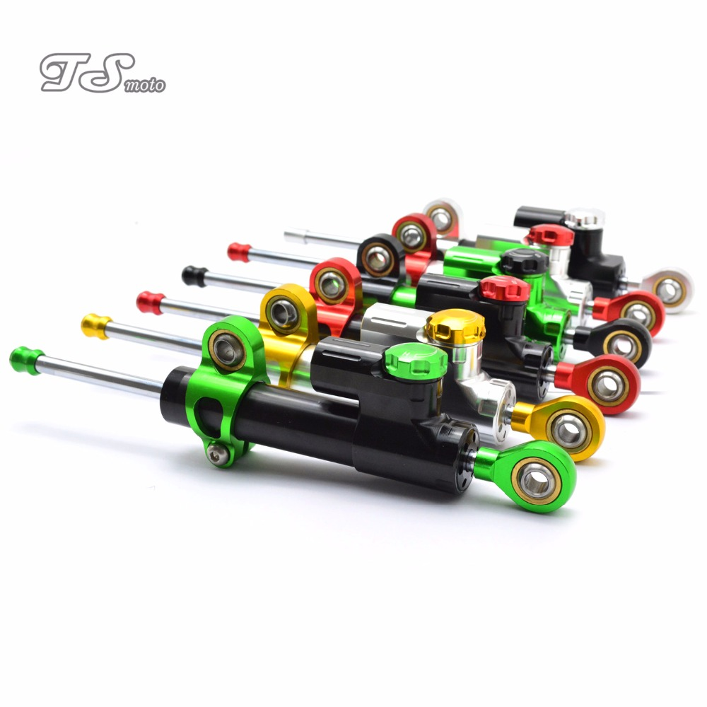 for CNC Damper Steering StabilizerLinear Reversed Safety Control Over  For Kawasaki ZX6R ZX7R ZX10R ZX9R NINJA300  KTM DUKE 390